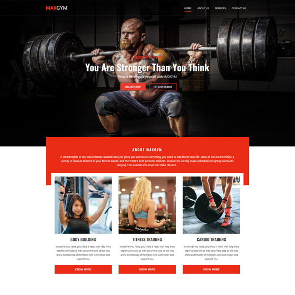 Gym WordPress Template